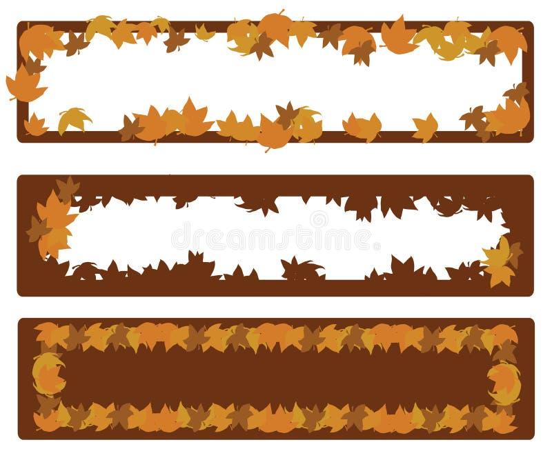 Drapeau d'automne illustration stock