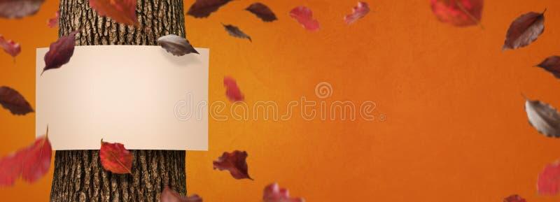 Drapeau d'automne photographie stock libre de droits