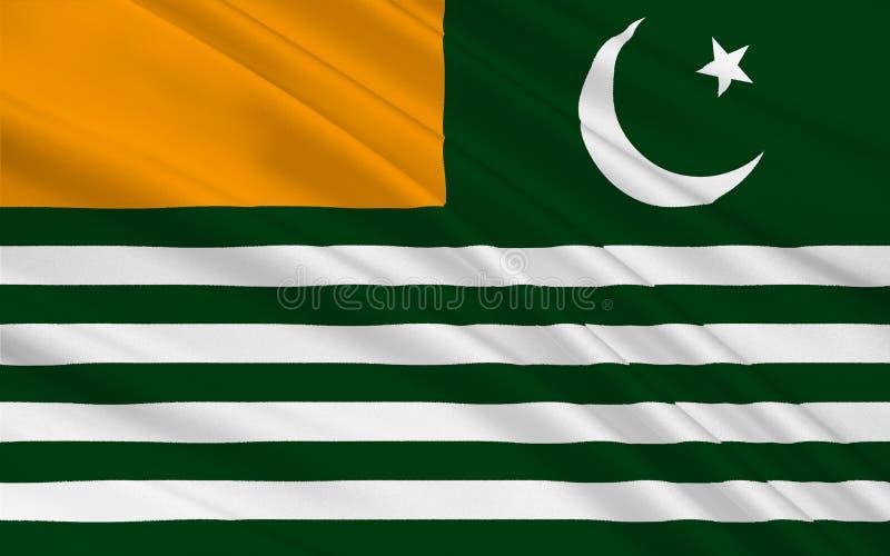 Drapeau d'Azad Jammu et du Cachemire, Pakistan illustration stock