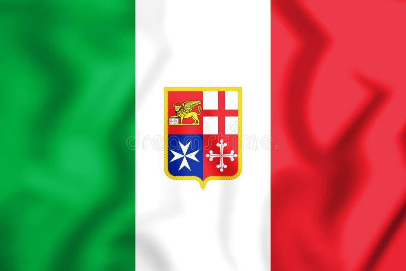 drapeau 3D civil de l'Italie illustration stock