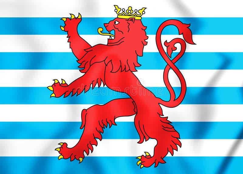 drapeau 3D civil du Luxembourg illustration libre de droits