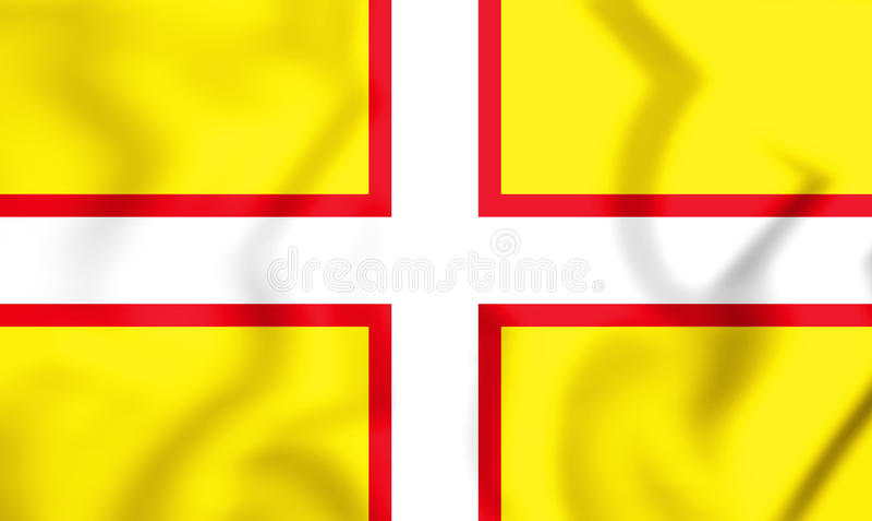 drapeau 3D de Dorset, Angleterre illustration de vecteur