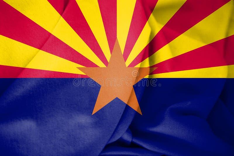 drapeau 3D de l'Arizona, Etats-Unis illustration de vecteur