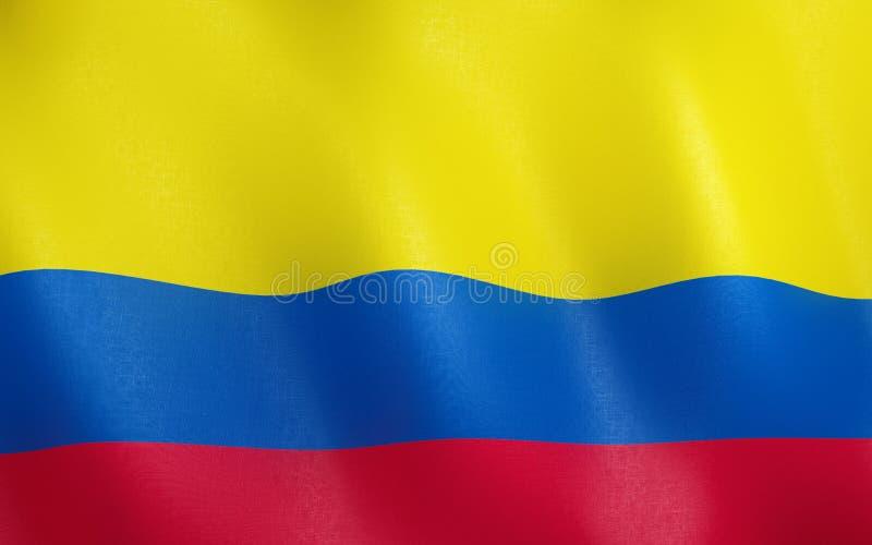 drapeau 3D de la Colombie illustration libre de droits