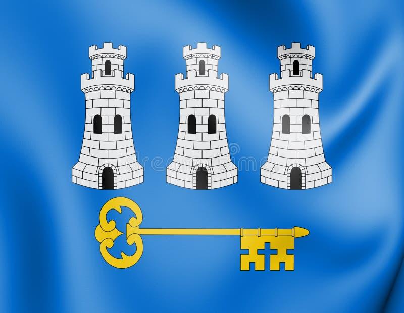 drapeau 3D de La Havane, Cuba illustration libre de droits