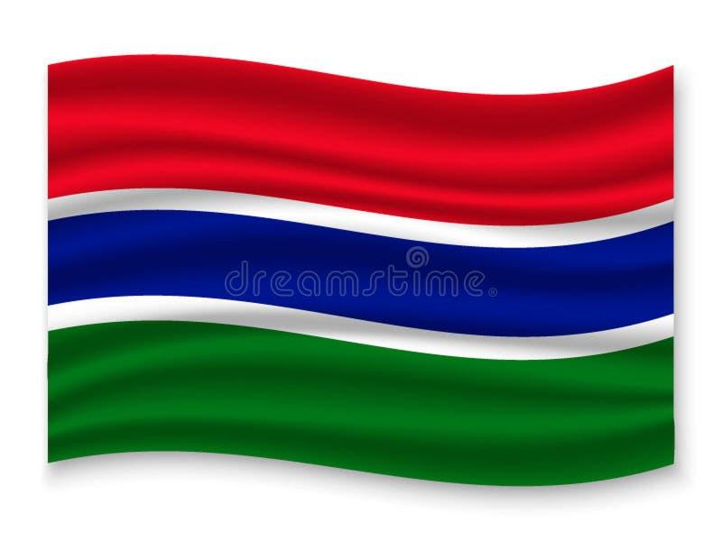 drapeau 3D de ondulation Illustration de vecteur illustration libre de droits