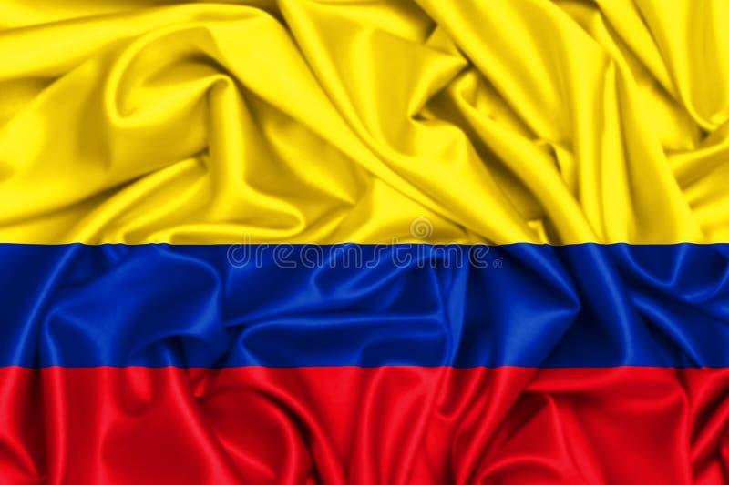 drapeau 3d de ondulation de la Colombie illustration de vecteur