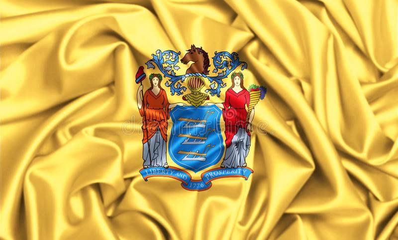 drapeau 3d de ondulation de New Jersey illustration libre de droits