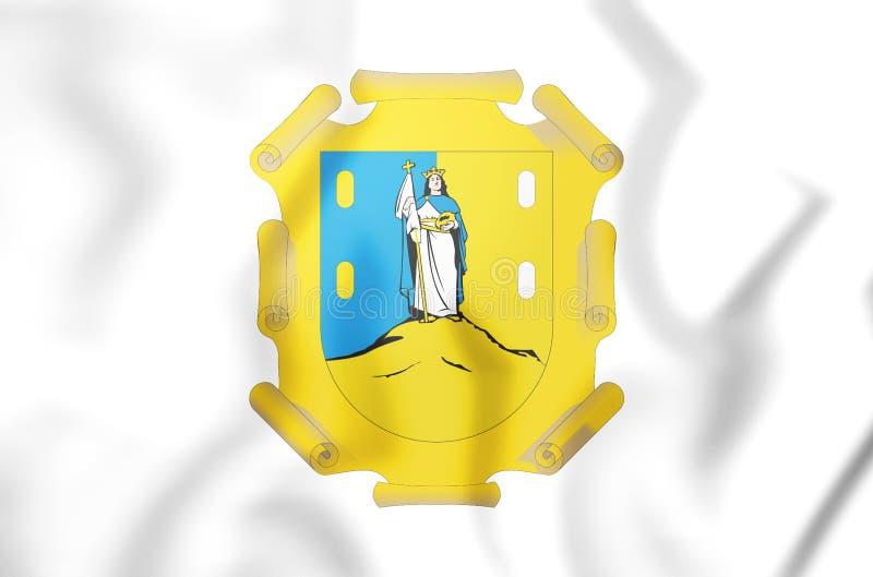 drapeau 3D de San Luis Potosi, Mexique illustration de vecteur