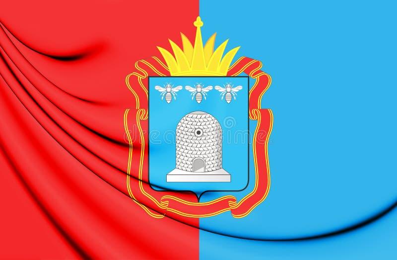 drapeau 3D de Tambov Oblast, Russie illustration de vecteur