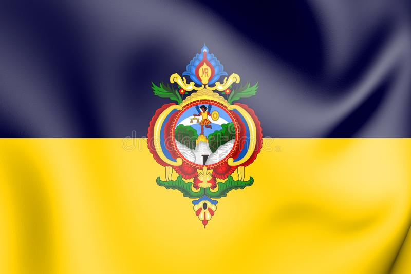 drapeau 3D de Tegucigalpa, Honduras illustration stock