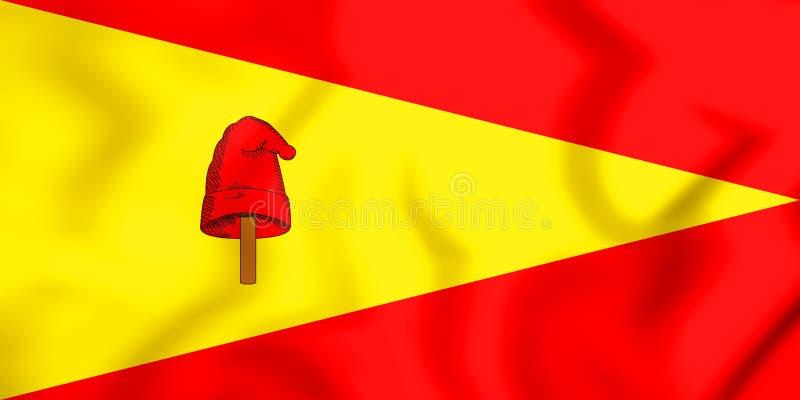 drapeau 3D de ville de Pereira, Colombie illustration stock