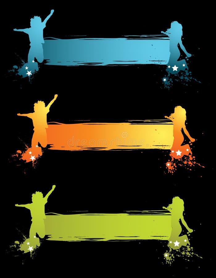 Drapeau d'enfants illustration libre de droits