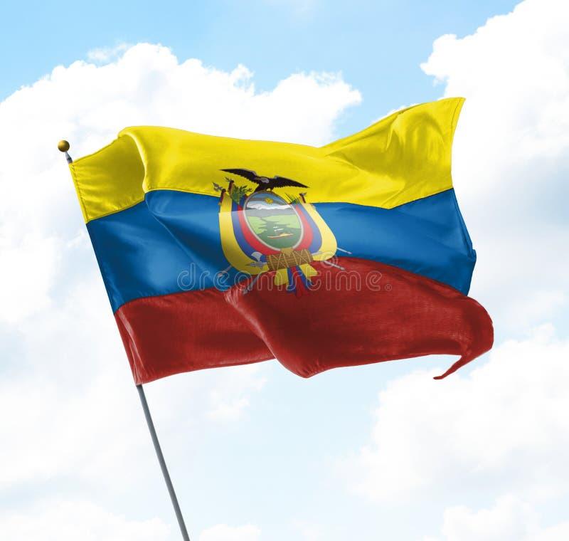 Drapeau d'Equador images stock