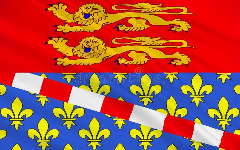 Drapeau d'Eure, France images stock