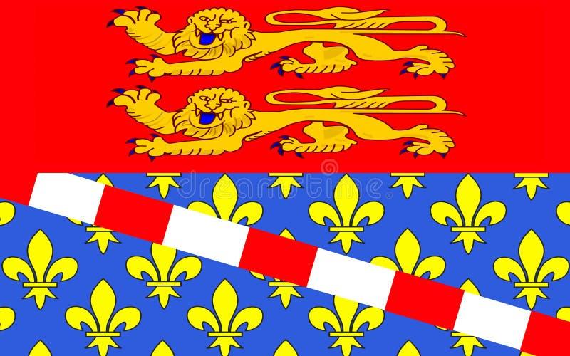 Drapeau d'Eure, France illustration stock