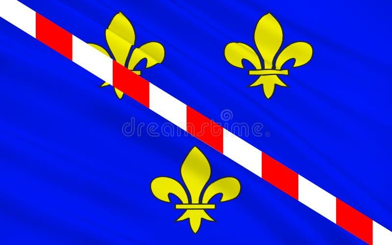 Drapeau d'Evreux, France illustration libre de droits