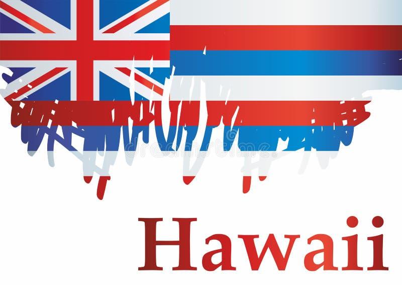 Drapeau d'Hawaï, état d'Hawaii, Etats-Unis d'Amérique Calibre pour la conception de récompense, un document officiel avec le drap illustration libre de droits