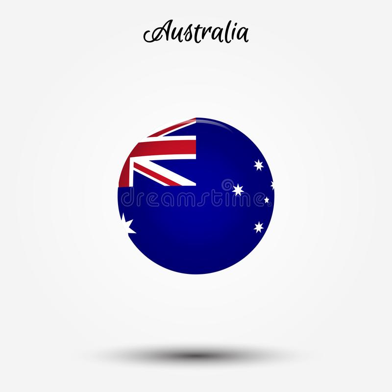 Drapeau d'icône d'Australie illustration libre de droits