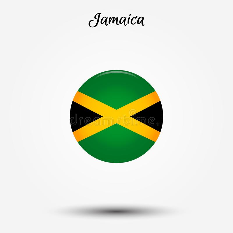 Drapeau d'icône de la Jamaïque illustration libre de droits