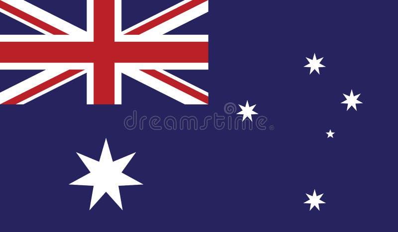 Drapeau d'illustration d'icône d'Australie image libre de droits