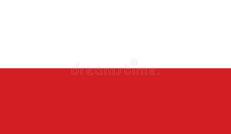 Drapeau d'illustration d'icône de la Pologne photographie stock libre de droits