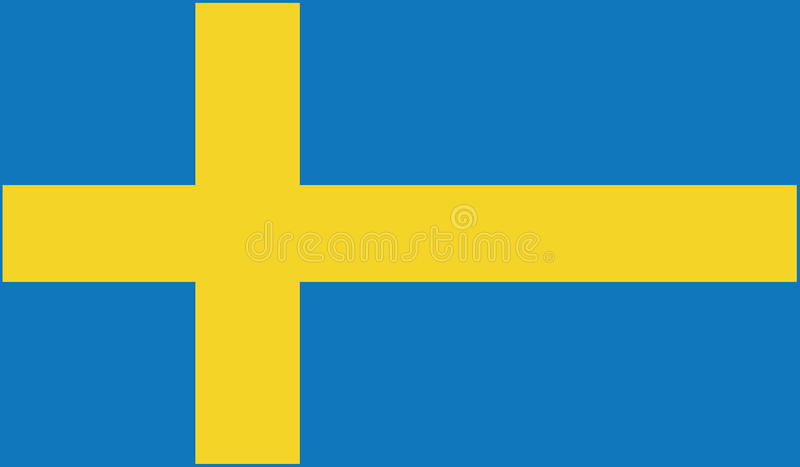 Drapeau d'illustration d'icône de la Suède photo libre de droits