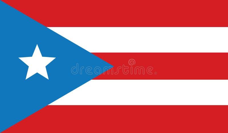 Drapeau d'illustration d'icône du Porto Rico images libres de droits