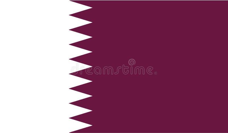 Drapeau d'illustration d'icône du Qatar photos stock