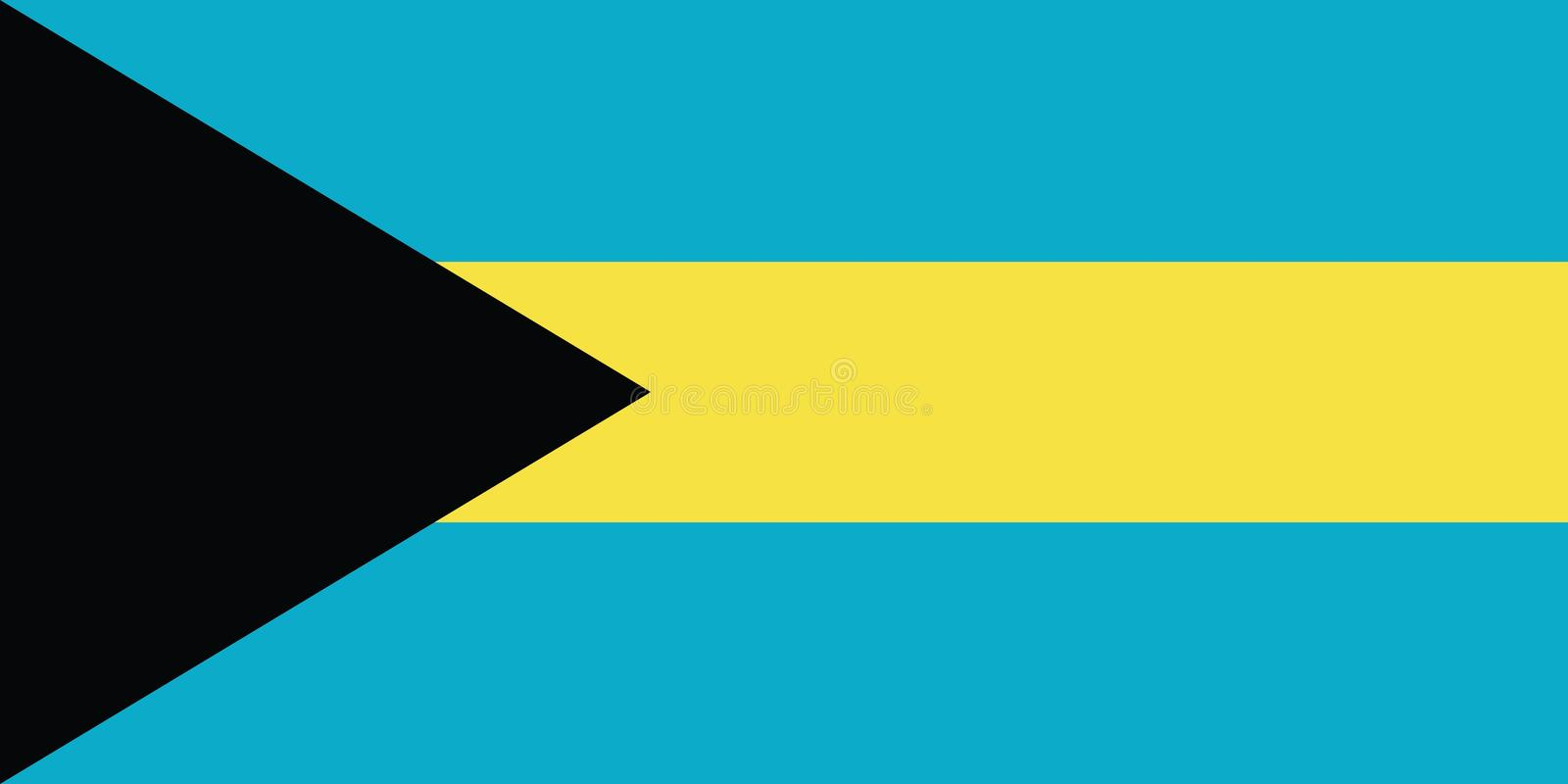 Drapeau d'illustration de vecteur des Bahamas illustration stock