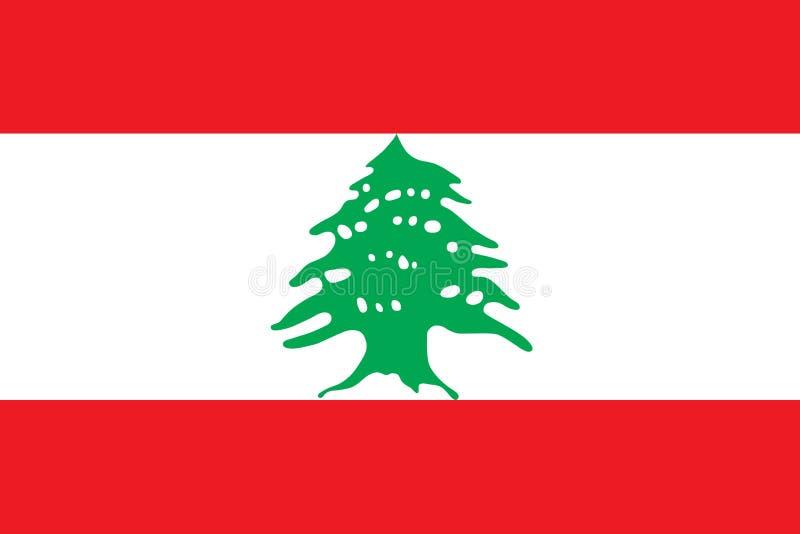 Drapeau d'illustration de vecteur du Liban illustration stock