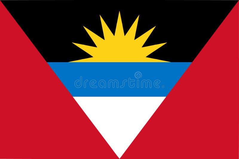 Drapeau d'illustration de vecteur de l'Antigua-et-Barbuda illustration de vecteur