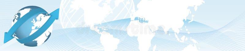 Drapeau d'importations-exportations illustration libre de droits