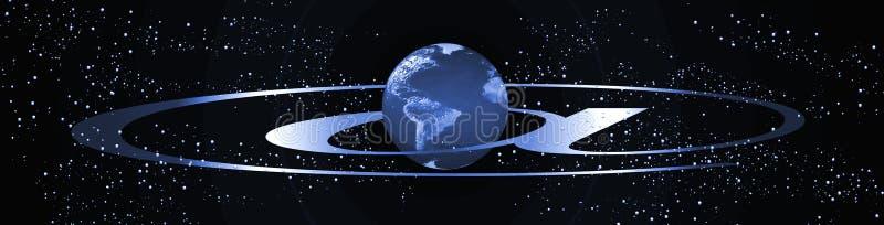 Drapeau d'Internet de planète illustration libre de droits
