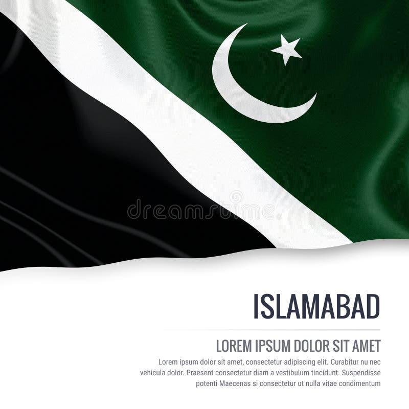 Drapeau d'Islamabad d'état du Pakistan illustration de vecteur