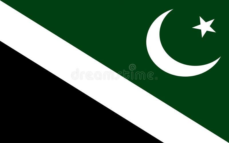 Drapeau d'Islamabad, Pakistan illustration libre de droits