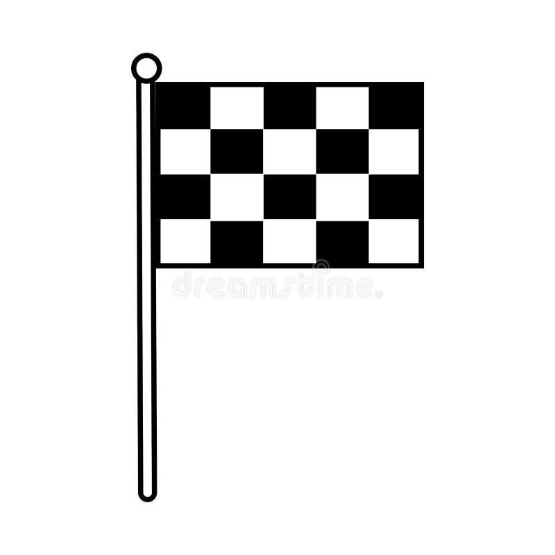 Drapeau d'isolement de course illustration de vecteur