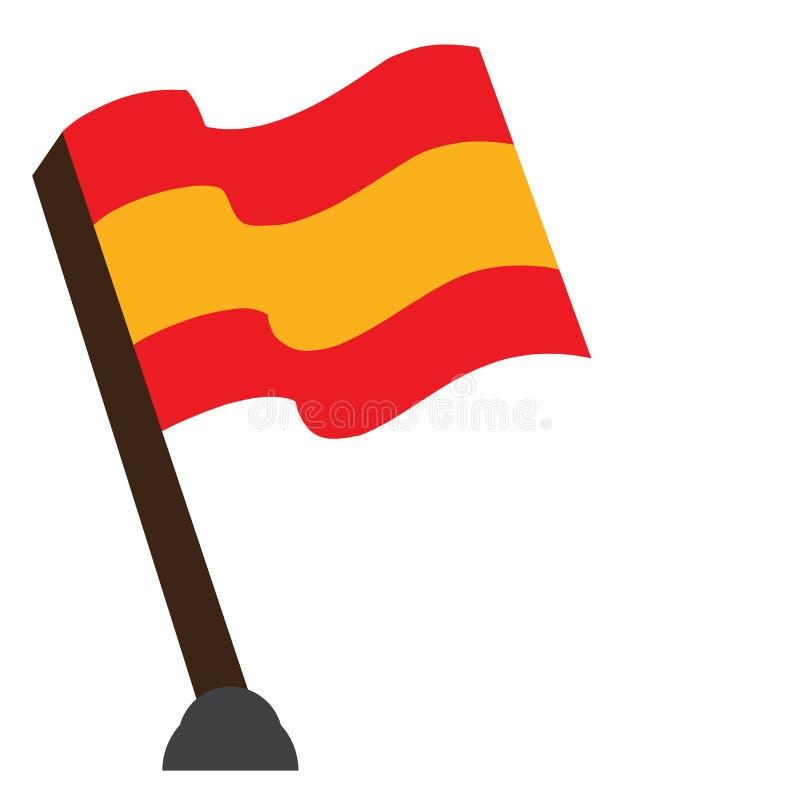 Drapeau d'isolement de l'Espagne illustration libre de droits