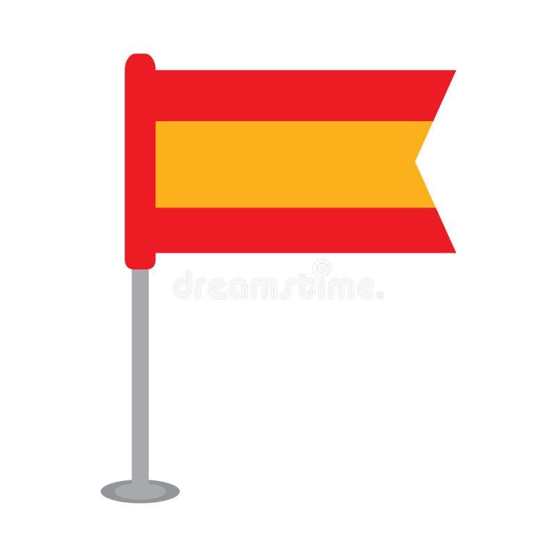 Drapeau d'isolement de l'Espagne illustration de vecteur