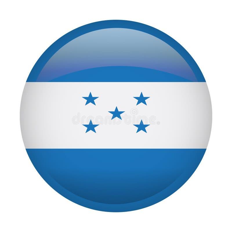 Drapeau d'isolement du Honduras illustration stock