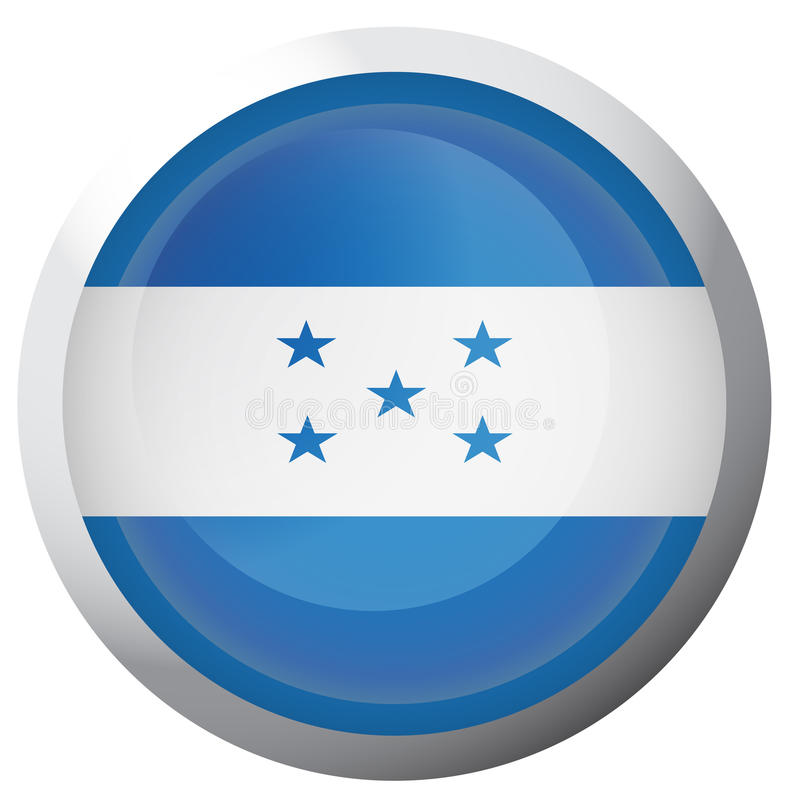 Drapeau d'isolement du Honduras illustration de vecteur