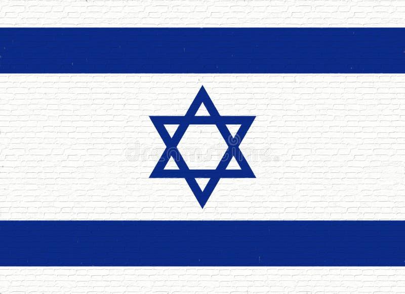 Drapeau d'Israel Wall illustration de vecteur