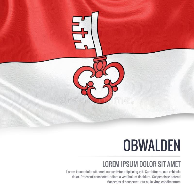 Drapeau d'Obwald d'état de la Suisse illustration stock