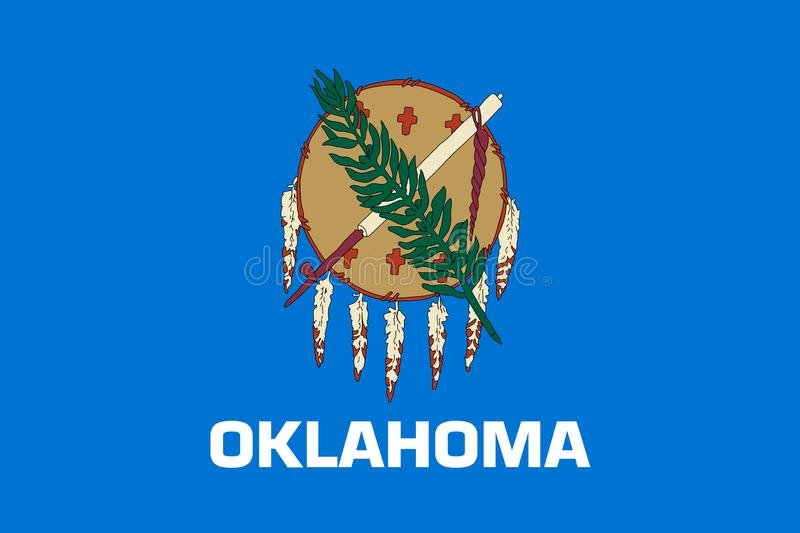 Drapeau d'?tat de l'Oklahoma Illustration de vecteur illustration libre de droits