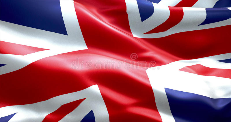 Drapeau d'Union Jack, drapeau de l'Angleterre britannique, Royaume-Uni photographie stock