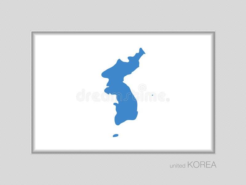 Drapeau d'United Korea Allongement national de drapeau 2 3 sur Gra illustration libre de droits