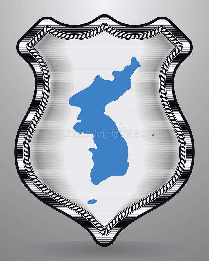 Drapeau d'United Korea Insigne et icône de vecteur illustration libre de droits