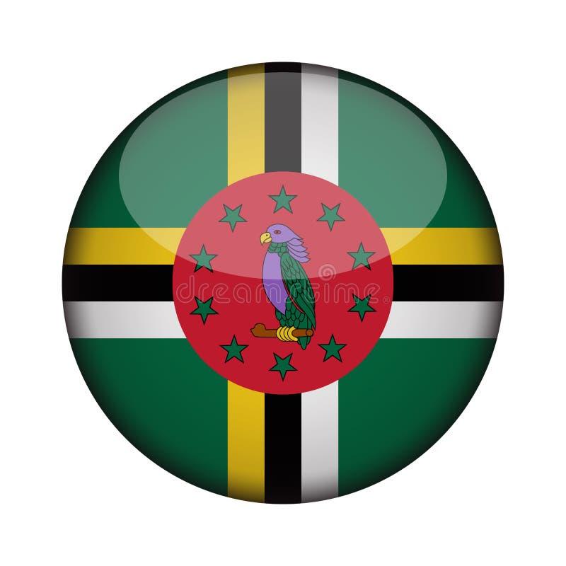 Drapeau dans le bouton rond brillant de l'icône illustration libre de droits