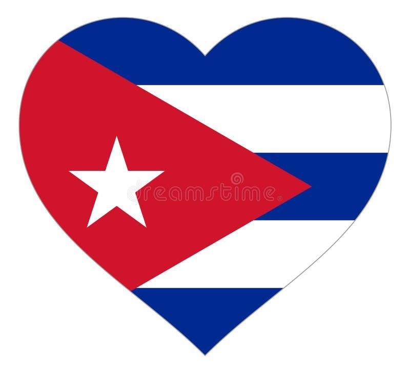drapeau dans le signe d'illustration de vecteur de coeur Drapeau sous forme de coeur avec la d?coupe contrastante, symbole de l'a illustration de vecteur