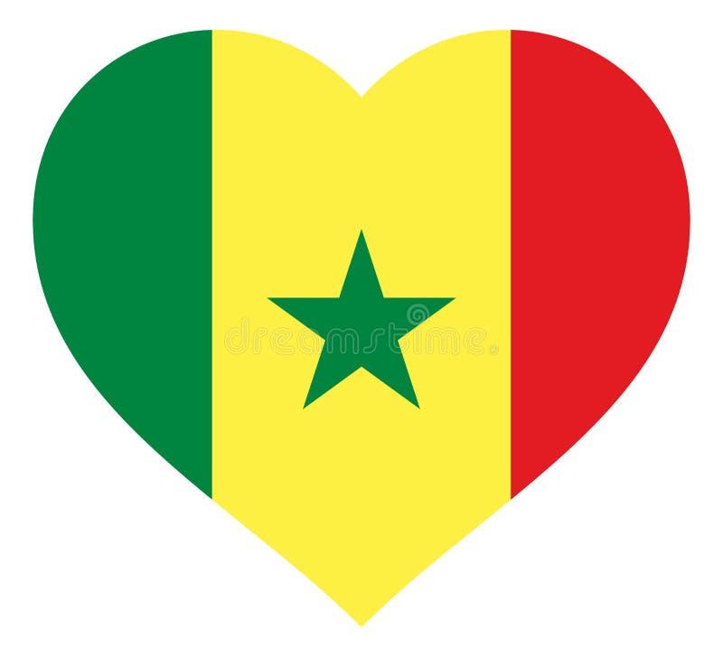 drapeau dans le signe d'illustration de vecteur de coeur Drapeau sous forme de coeur avec la d?coupe contrastante, symbole de l'a illustration libre de droits
